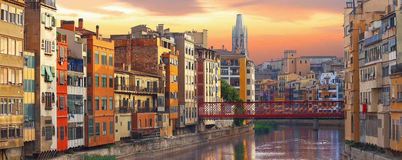 historical jewish quarter in Girona, Barcelona, Spain, Catalonia