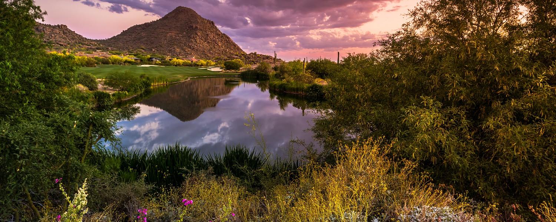 Sonoran Desert Sunset Reflection