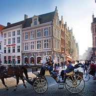 Bruges in carrozza