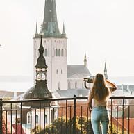 Église Saint-Olav et son clocher