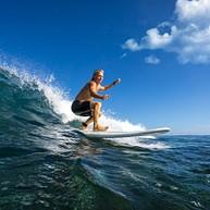 Surfing in Byron Bay