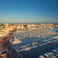 Cap d'Agde: a marina in the Mediterranean