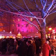 Розовая рождественская ярмарка