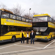City Tour - Yellow Double-Decker-Buses