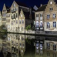 Het magische avondlandschap van Gent