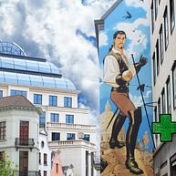 Stripwandeling in Brussels: stripmuren