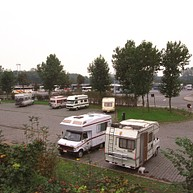 Camper van overnight parking area