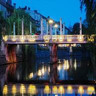 Река Любляница и ее мосты