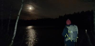 夜幕下的大自然