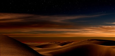 The Desert by Night