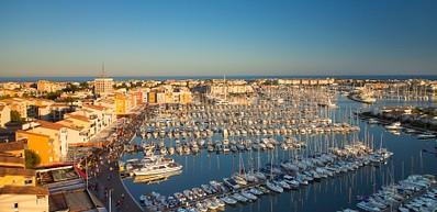 Un port de plaisance en Méditerranée