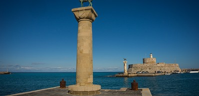 Mandraki Harbour - Colossus of Rhodes
