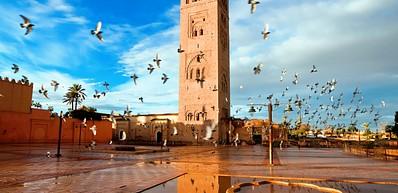 Koutoubia Moschee und Minarett